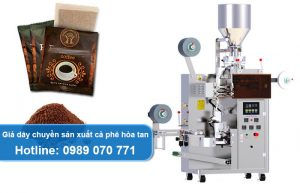 giá dây chuyền sản xuất cà phê hòa tan