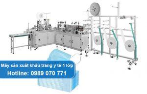 máy sản xuất khẩu trang y tế 4 lớp